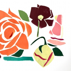 Rosy Roses 2018, collage 38x48 cm